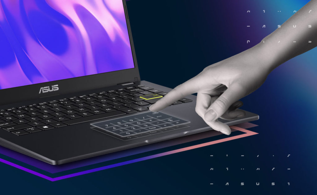 入門機款的 TouchPad 同樣整合了數字鍵盤