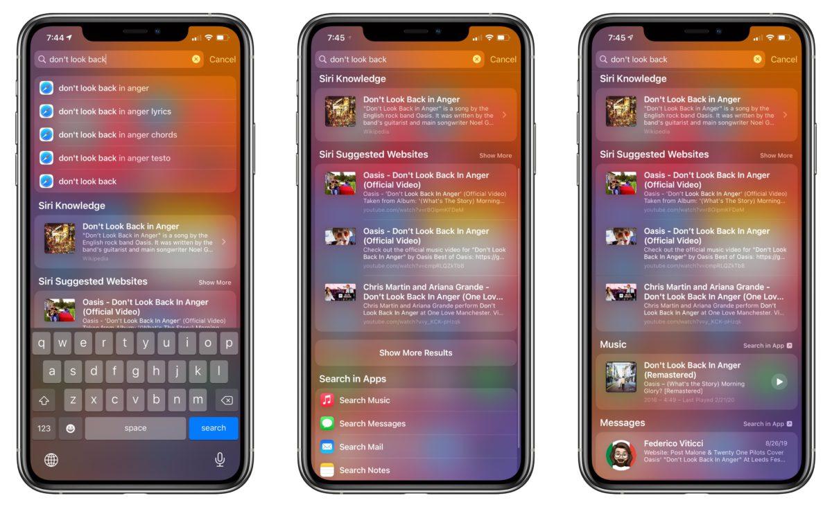 過去 iOS 14 測試版本的搜尋結果矯枉過正,過分精簡。到了 Beta 4 就加入 Siri 相關資訊等有用搜尋結果。