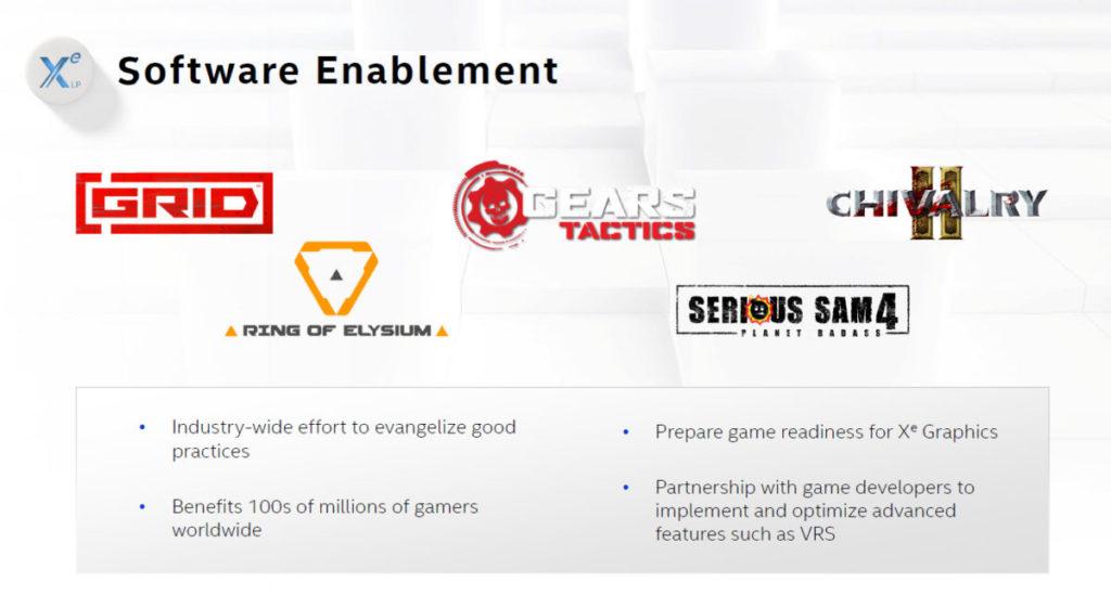 目前已有少量遊戲會為 Intel Xe 繪圖核心作出優化