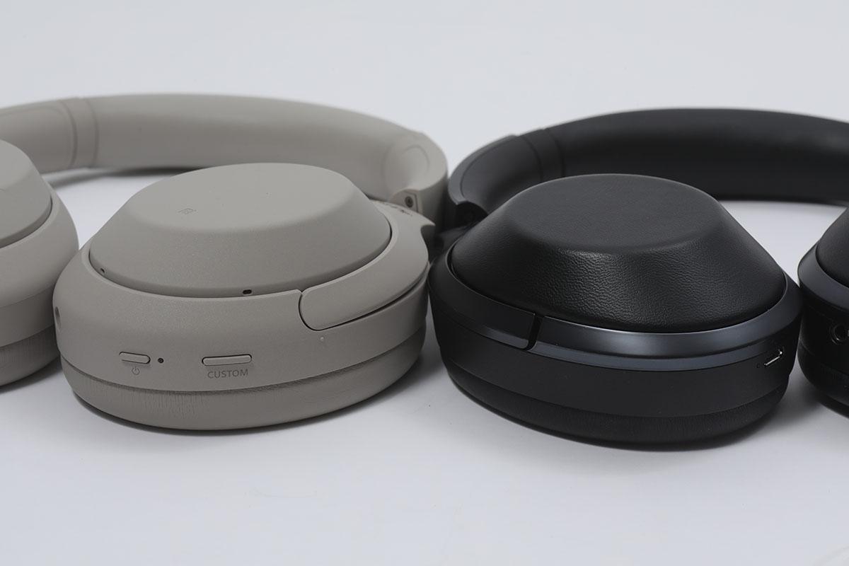 相比於第一代 WH-1000X , M4 整個耳罩薄身了,加厚了耳罩綿,雖然重量差不多,但戴上頭的重量感卻因重心平均而覺得更輕。
