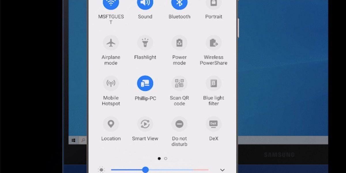 Android 9 手提拉下置頂工具列,點選「Link to Windows」功能。