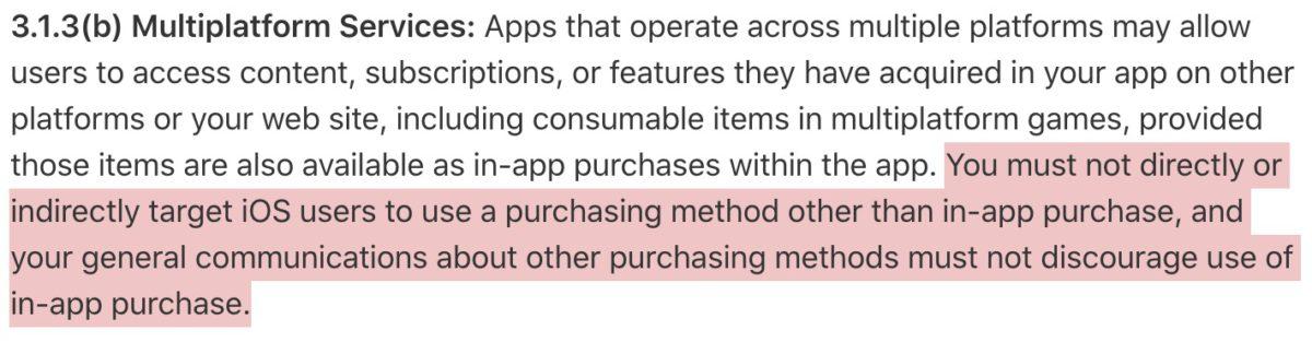 Apple 最初指 WordPress 違反了 App Store 審核指南中的第 3.1.3(b) 。