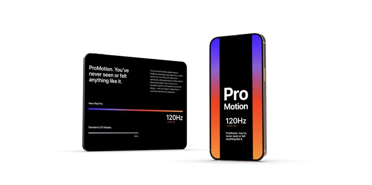 ProMotion 功能因應顯示內容來動態調整屏幕幀率,提供更順暢的捲動顯示,也可以改善電池壽命。