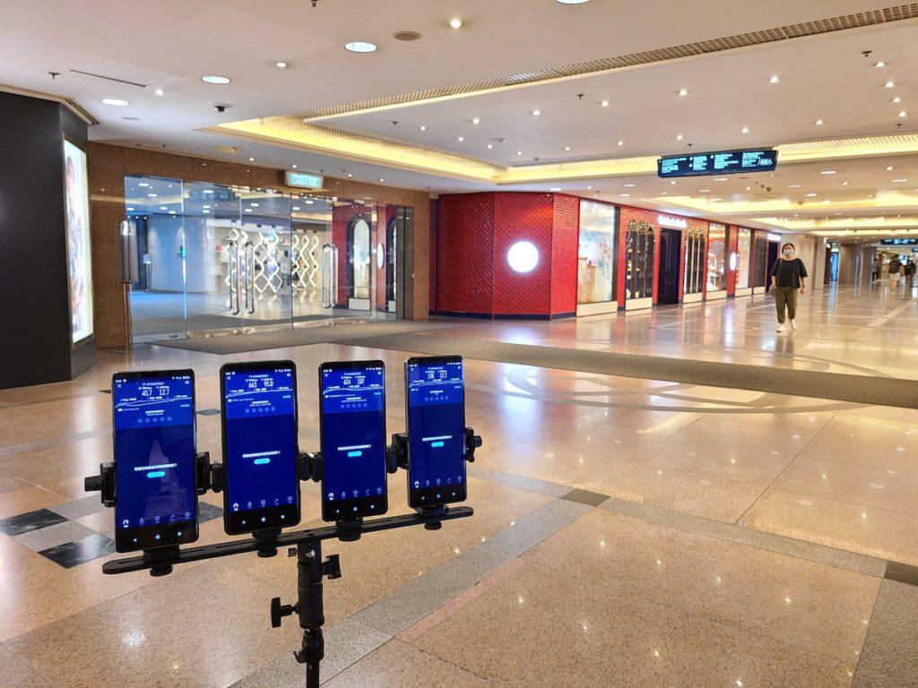 尖沙咀港威大廈地下商場5G測速