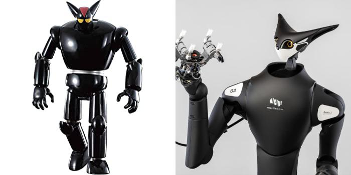 大家會否覺得 Model-T (右)的設計有點像《鐵人 28 》片中的奸角機械人黑牛(左)呢?