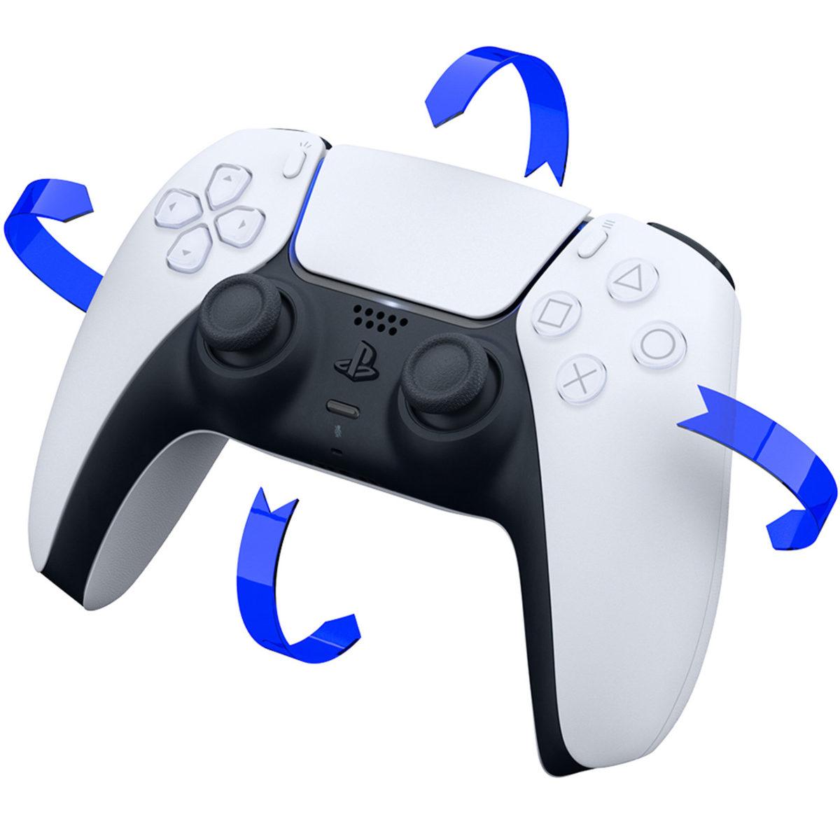 除了觸覺回饋和自動調整觸發器之外, DualSense 也備加速度感測和陀螺儀作動作感測。