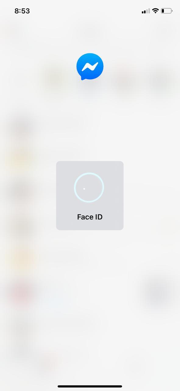 開啟「應用程式鎖定」之後,就需要用 Facebook ID 或 Touch ID 才能解鎖。