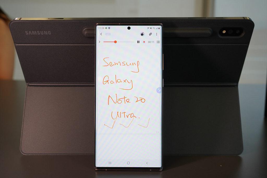 Samsung Notes 新增Audio Bookmark功能,可邊手寫記事邊錄音,更清晰地記下細節。