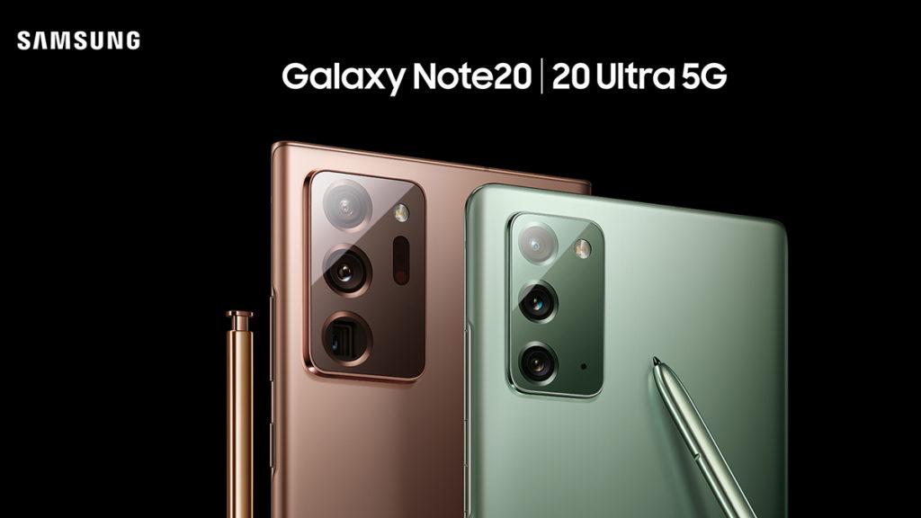 Galaxy Note 20 Ultra  由 108MP 主鏡配合 12MP 超廣角及 12MP 遠攝鏡組合而成,支援 50 倍 Space Zoom 功能;Galaxy Note 20 則為64MP 主鏡配合 12MP 超廣角及 12MP 遠攝鏡,而兩機的前置鏡頭為 10MP。