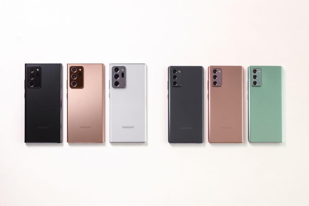 Galaxy Note 20 Ultra會有 Mystic Bronze、Mystic Black 及Mystic White 三款,而Galaxy Note 20 則會有Mystic Bronze、Mystic Grey 及 Mystic Green 三種。