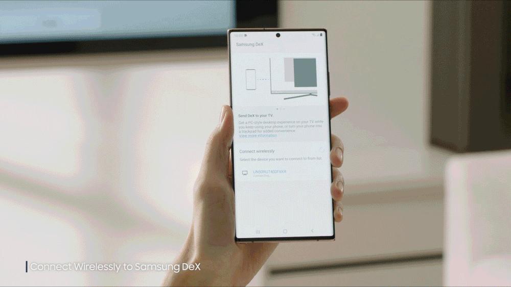 Samsung DeX 可無線連接,免去了線材束縛。