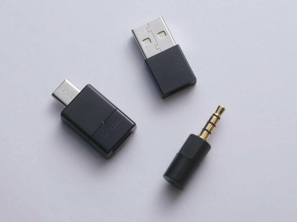 .一套 BT-W3 有 USB-C 裝置、 USB-A 轉插和 3.5mm 咪高峰。