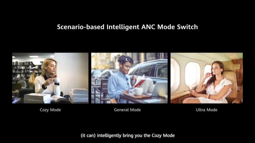 人工智能環境辨識技術,能透過耳機的收音咪,分析使用者身處環境的來調節降噪的級別