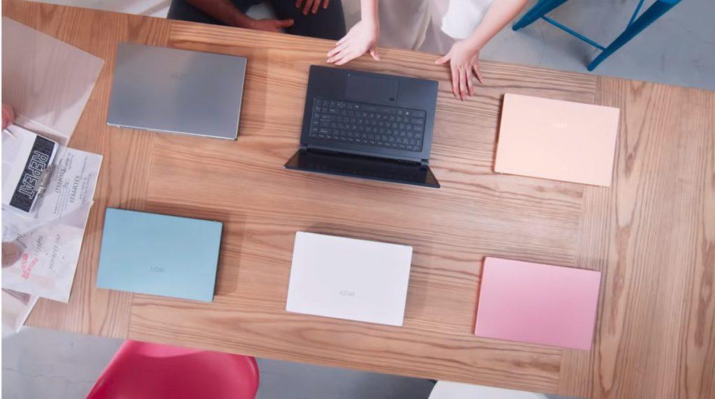 部分舊號型的 Prestige 和 Modern 系列得到 11 代處理器升級,換上新的 MSI Logo 及多款顏色可選。