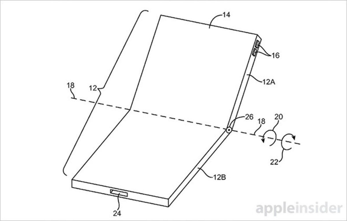 Apple 四年前就已經取得了多項摺疊屏幕裝置專利。