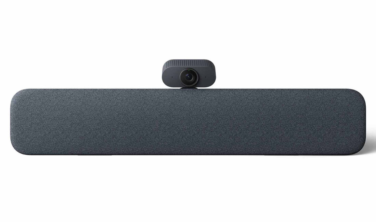 Smart Audio Bar 具備人工智能處理器,藉著 AI 自動將鏡頭移向講者,又可以將環境雜音清除、將人聲放大。