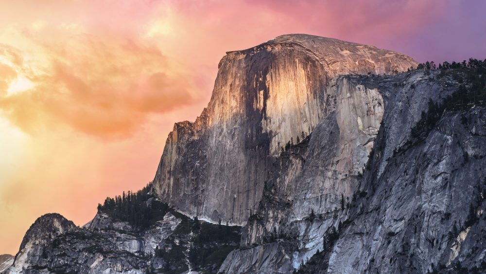 MacOS 上的 Yosemite Wallpaper。