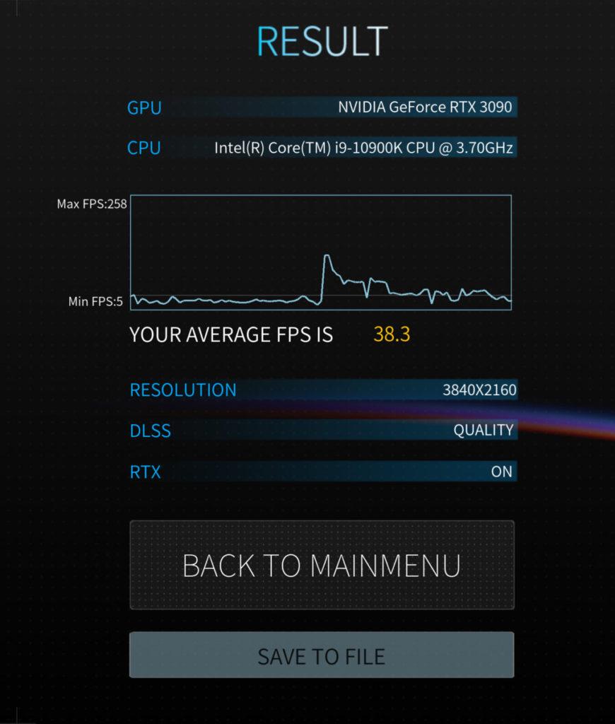 Boundary Benchmark @4K DLSS Quality 有 38.3fps ,對比 RTX 3080 為 35.5fps 。