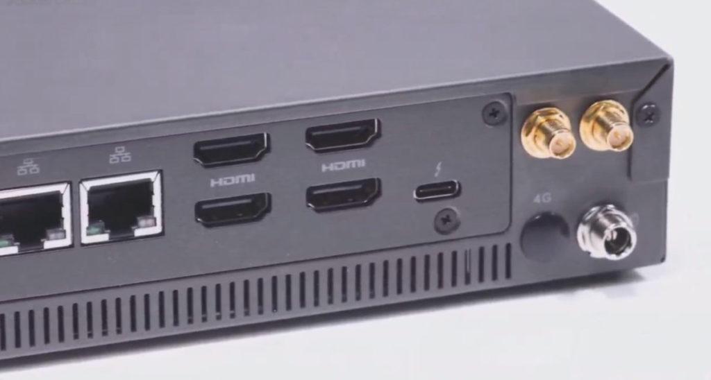 支援 4 組 4K HDMI 輸出,也有 1 組 Thunderbolt 4 接口。