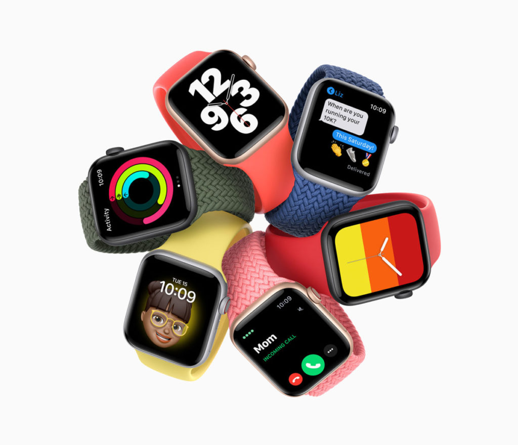 Apple Watch SE 同樣使用 1,000nit 亮度的Retina LTPO OLED 屏幕、50 米防水,亦有 LTE 版選擇,以及具備 40mm 與 44mm 兩款。