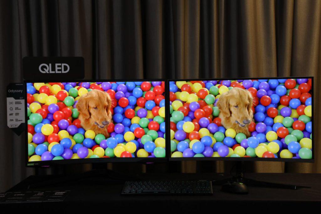 G9 所使用 QLED 量子點顯色技術,能比傳統螢幕顯示更多色彩。