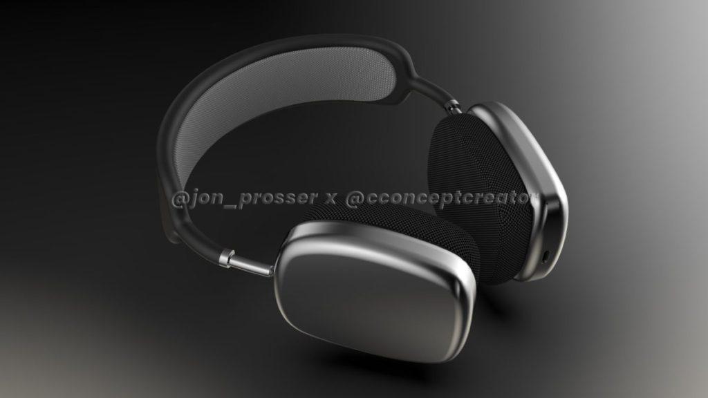 Jon Posser 報稱根據手上的 AirPods Studio 工程機,而製作了 3D 效果圖
