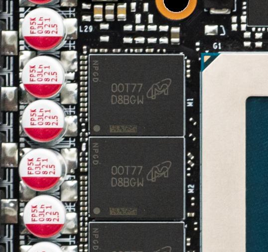 所用 Micron GDDR6X 與 RTX 3080 是相同的。