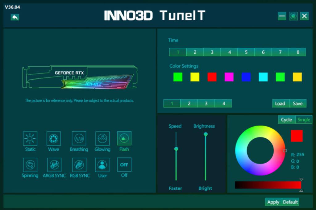 可在程式隨時改變 RGB 燈效。