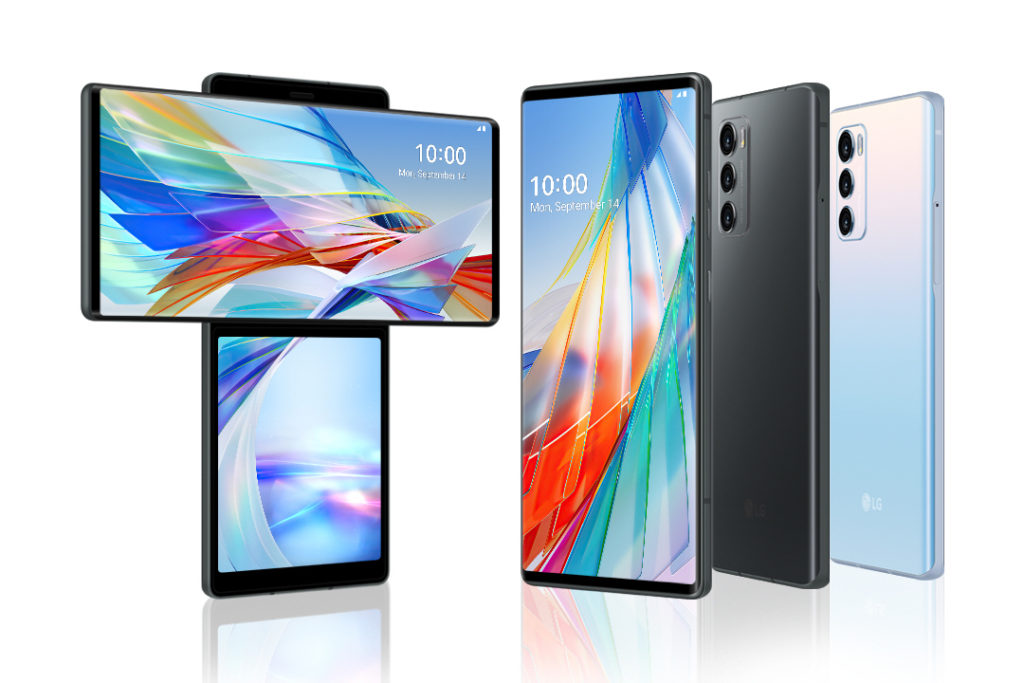 LG Wing 備有兩個顏色可選擇。
