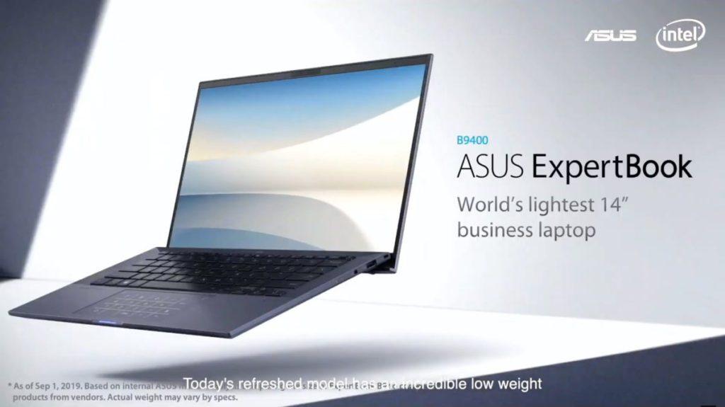 ASUS 稱為全球最輕 ExpertBook B9 將推出Tiger Lake 版 B9400,重量為 880g ,比 10 代 Cpu 版 只重了 10g 。