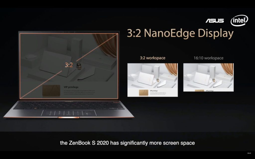 使用 3:2 大比例,比過往 16:10 的螢幕提供更大畫面。