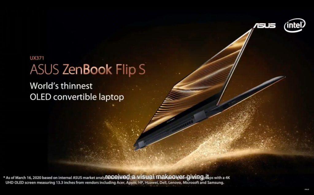 配有 4K HDR OLED 螢幕的 ZenBook Flips 。