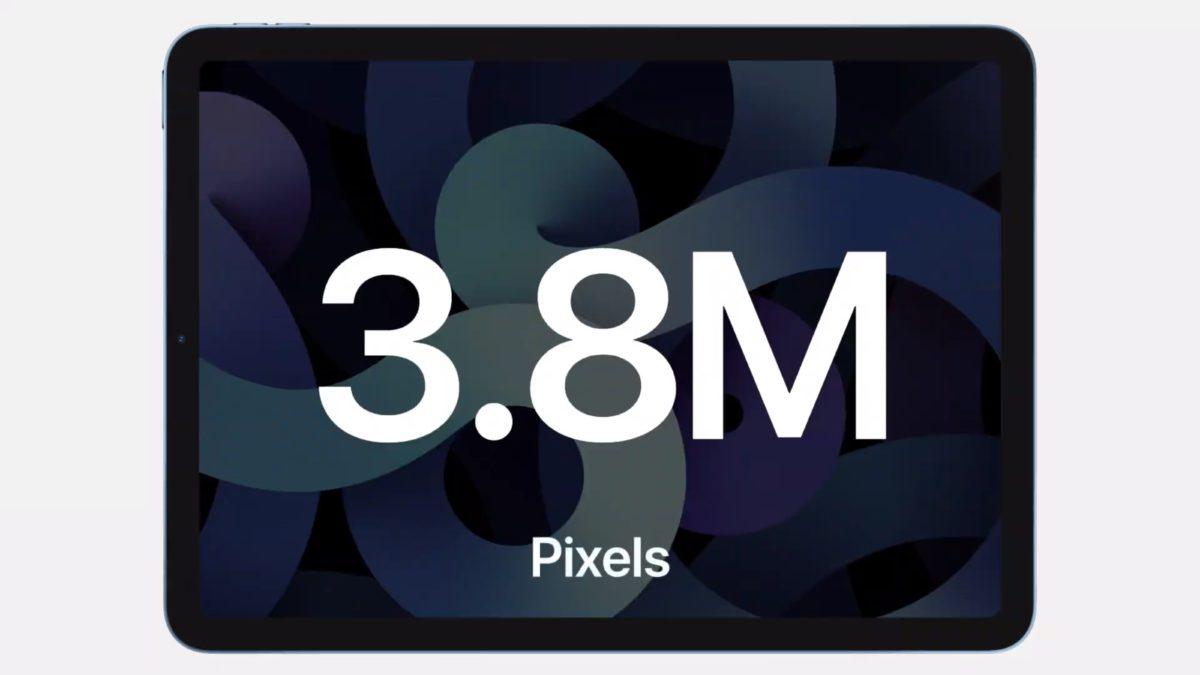 第 4 代 iPad Air 採用 10.9 吋 Liquid Retina 屏幕支援 True Tone 原色調和 P3 色域,解像度高達 2360 x 1640 (264ppi, 380 萬像素) 。