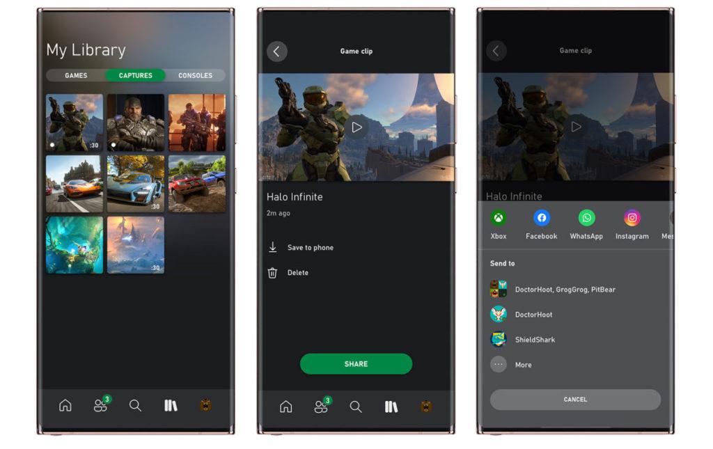 Xbox 應用程式( Beta )亦可以讓你建立、加入派對,和分享遊戲畫面及遊戲片段。