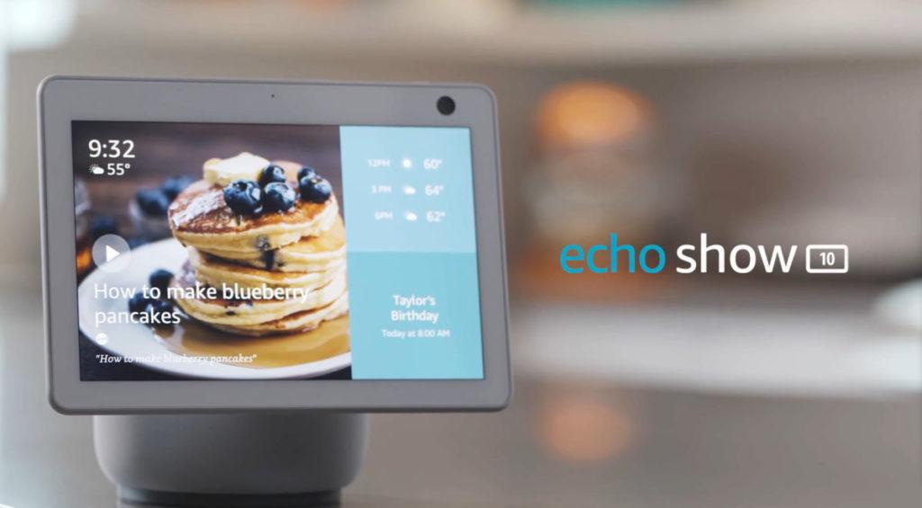Echo Show 10 備有摩打台座,令屏幕可以一直朝著用戶。