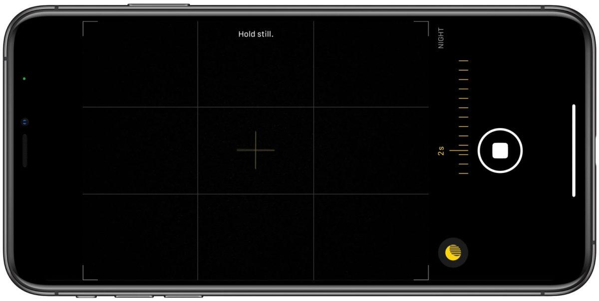 更新後在進入「夜間模式」會使用使用 iPhone 11 系列手機內的陀螺儀,方便用戶在拍攝時能保持 iPhone 的穩定。