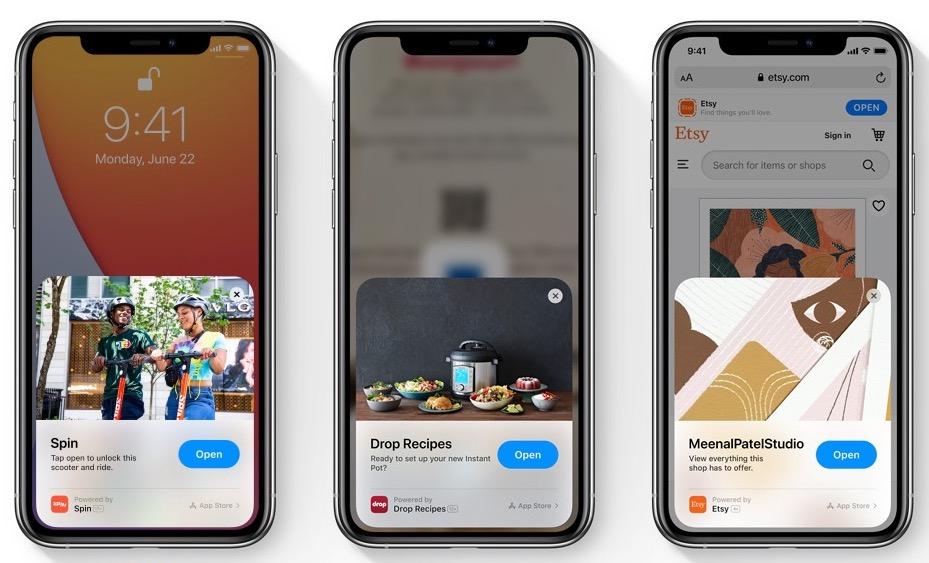 App Clips 是手機程式的片段,讓用戶快速安裝手機程式使用。