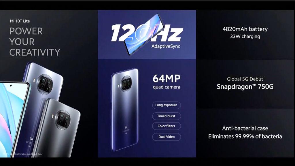 Mi 10T Lite 6.67吋開孔屏支援120Hz更新率。