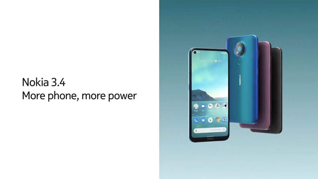 Nokia 3.4 採用Snapdragon 460 處理器及最多4GB RAM。