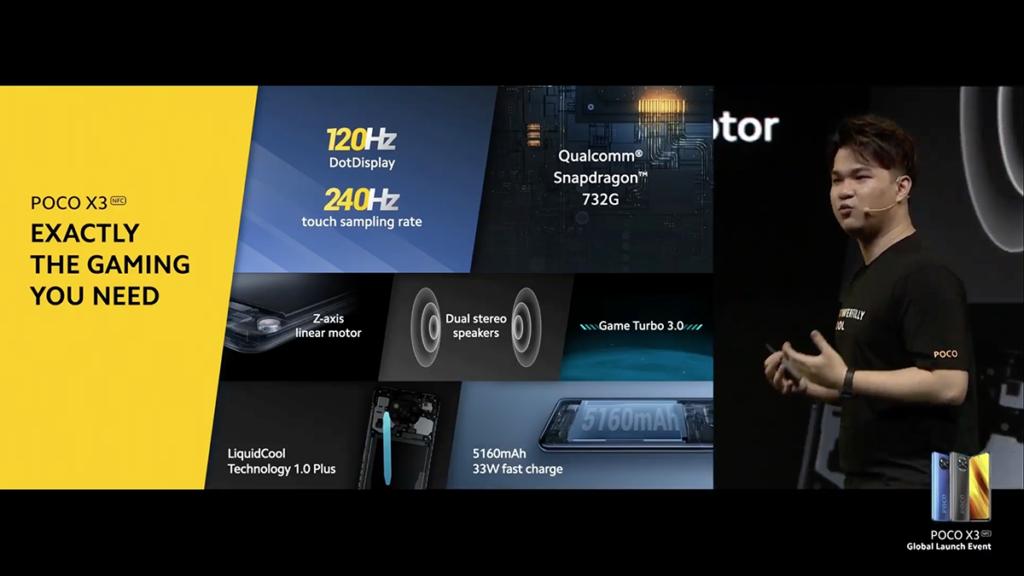 採用 Snapdragon 732G 處理器,並內置 6GB RAM 及 128GB ROM,由於具備 Adreno 618 圖像及遊戲處理器手機,加上內置 LiquidCool Technology 1.0 Plus,結合加大的銅熱管及多層石墨,將手機長期運作時所產生的熱量排出,配合 120Hz 更新率及 240Hz 觸控採樣率,可預期有相當不錯的打機體驗。