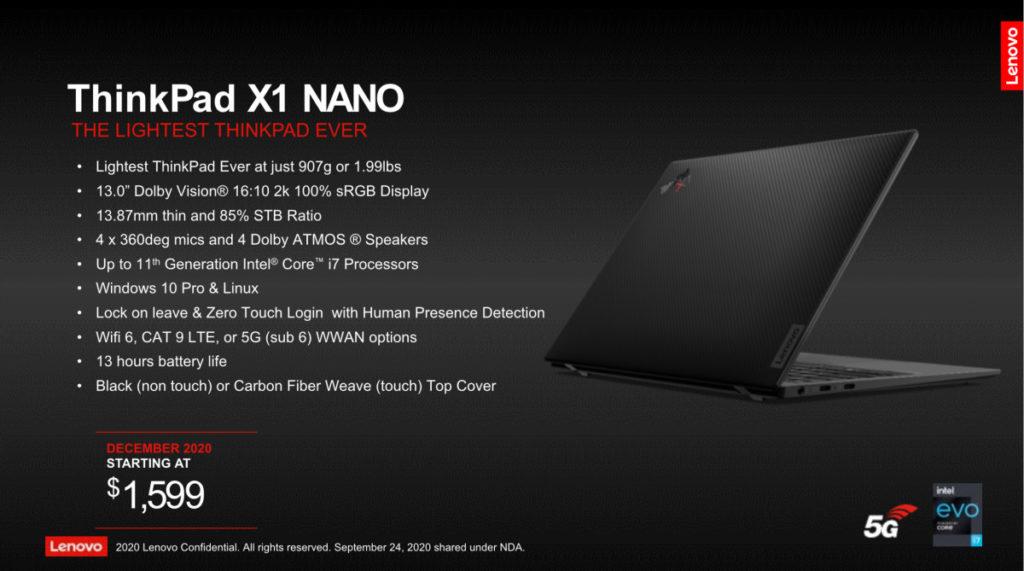 X1 NANO 售價由 1,599 美元開始。