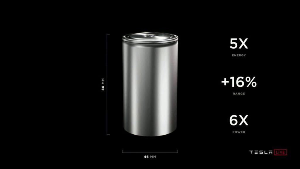 Tesla 的新 4680 無極耳電池單元擁有 5 倍電量和 6 倍功率,可提升續航力 16% 。