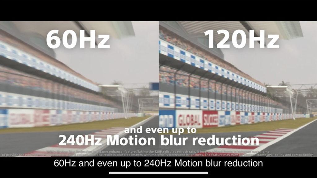 6.1 吋 21:9 屏幕具有 120Hz 更新率及 240Hz 觸控採板率,而且更可透過技術達到 240Hz Motion Blur Reduction。