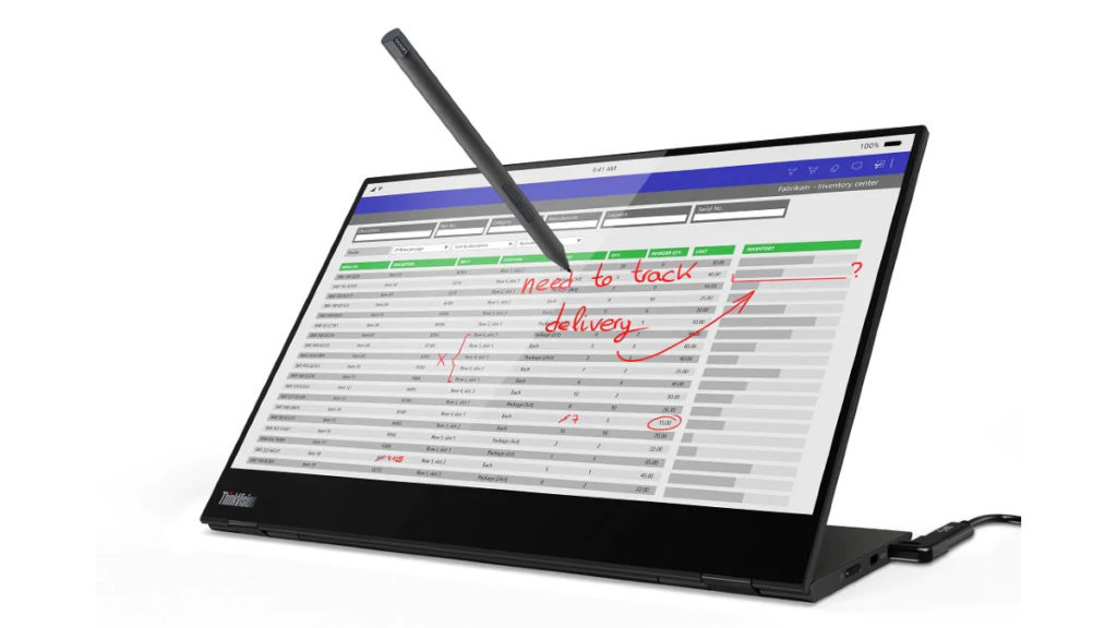 M14t 支援 10 點觸控輸入,附送的 Active Pen 支援 4096 階感壓。令屏幕可以當成繪圖板使用。