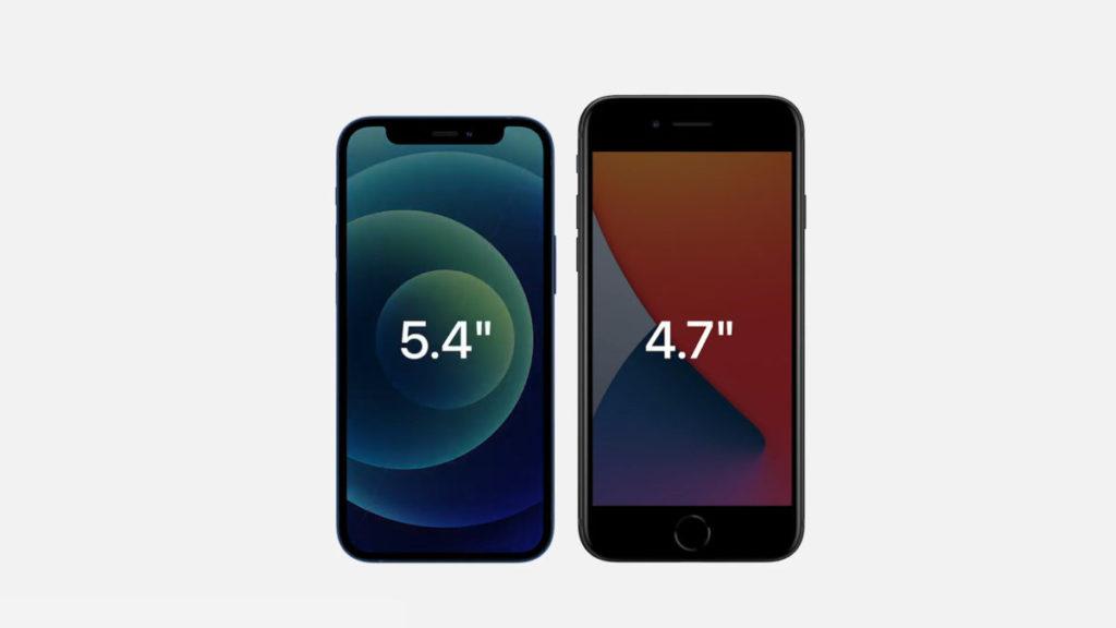 iPhone 12 mini 體積比起 iPhone SE 更小