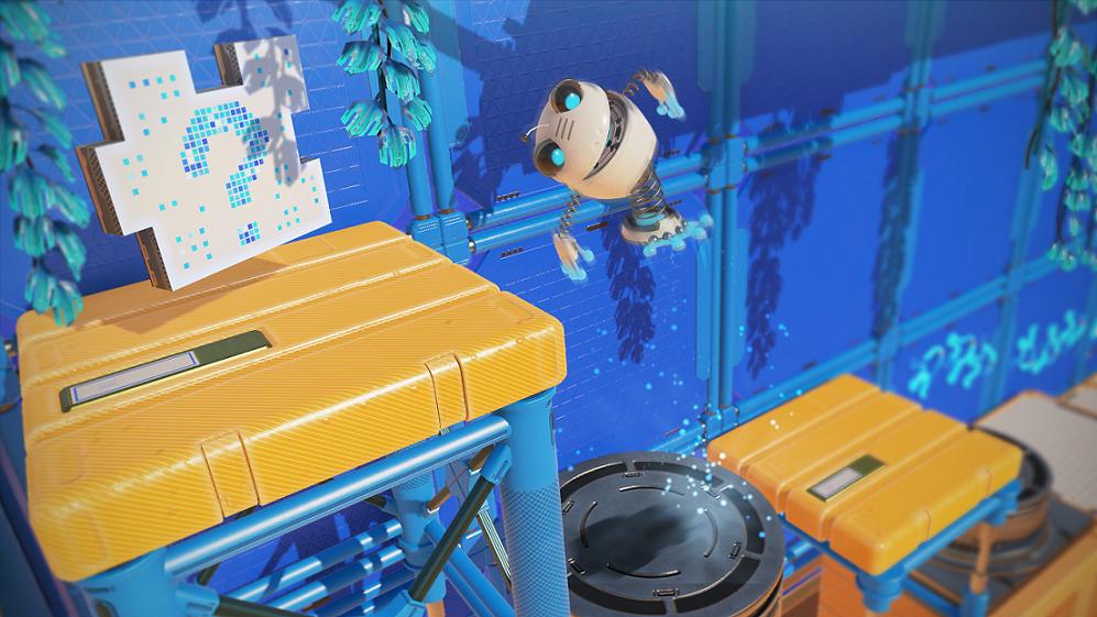 青蛙裝除了展示到動態感測器外,當玩家按下 R2 儲力時,其 Adaptive triggers 亦會隨之變緊。