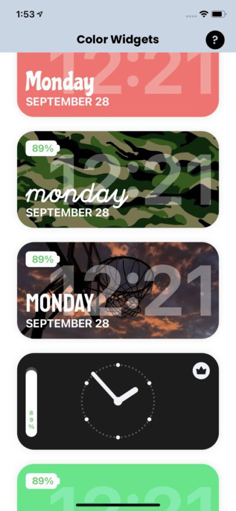 Color Widgets 提供多種現成又有風格的樣式供大家自訂。