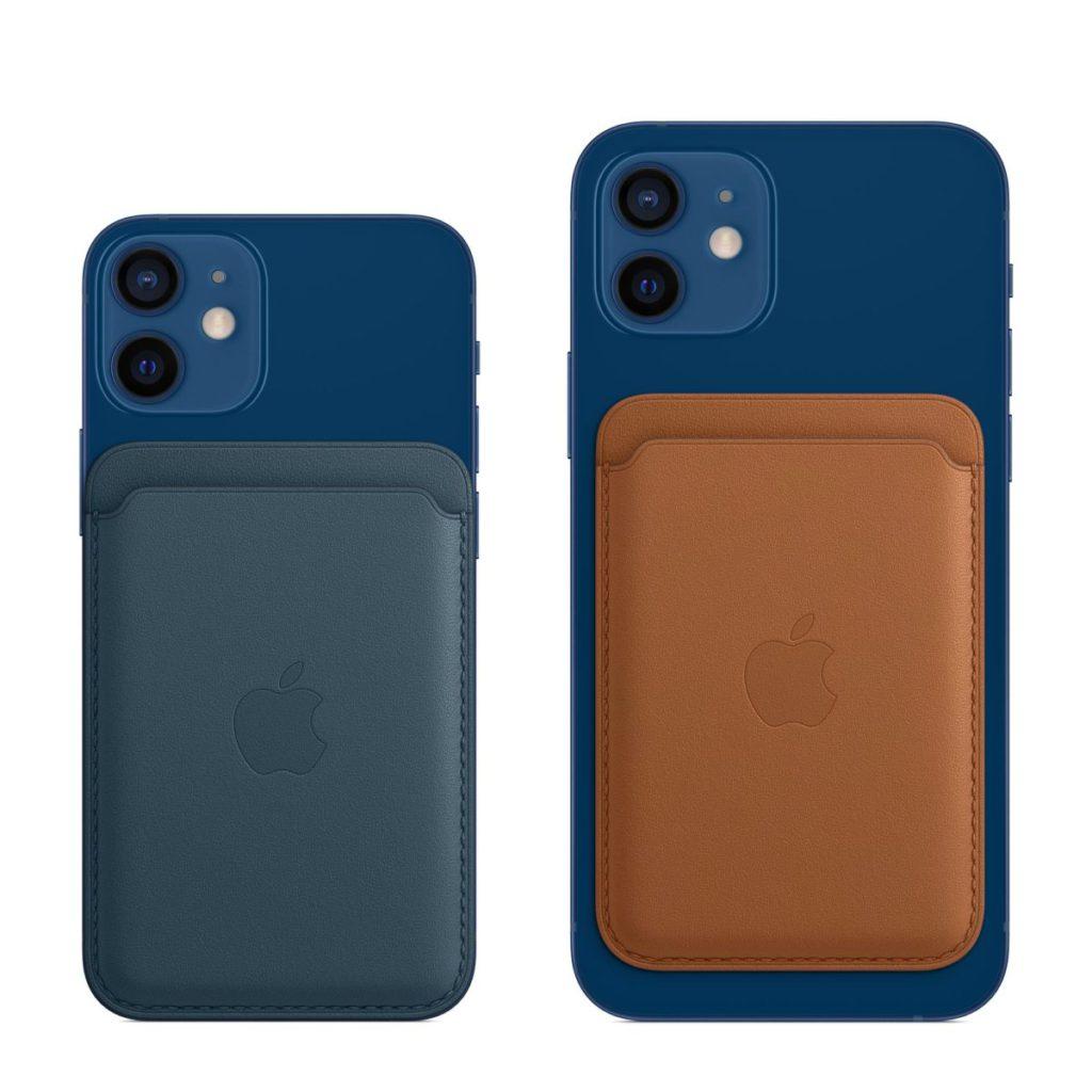 MagSafe 銀包可以直接吸附在 iPhone 12 系列手機,或 MagSafe 護殼上,寬度剛好與 iPhone 12 mini 差不多。