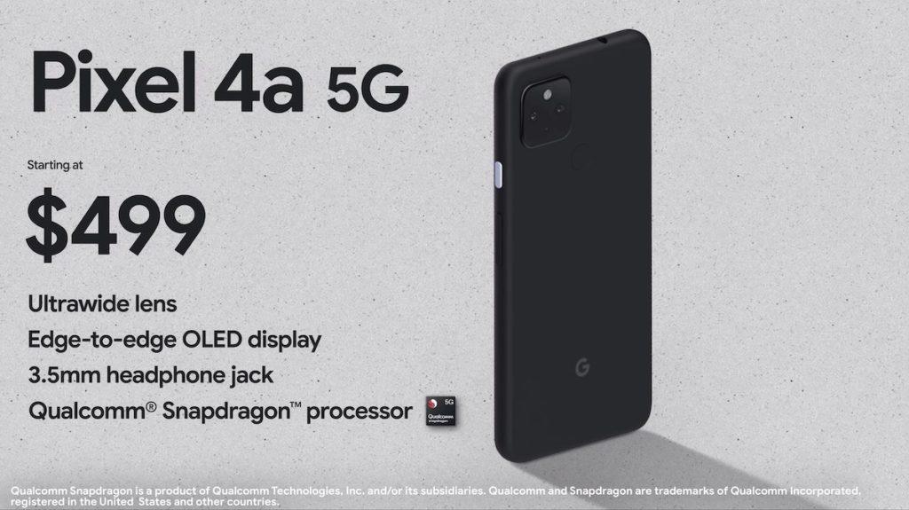 Pixel 4a 5G 亦同步推出。