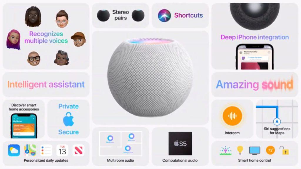 Apple 在公布 HomePod mini 的同時公布多項智能喇叭新功能。